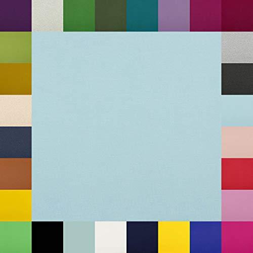 Brittschens Stoffe und Zutaten Baumwolljersey Frieda Uni - in vielen Farben - Oeko-Tex Standard 1 - Meterware ab 50cm - hochwertiger Basicstoff für viele Nähprojekte (Soft Blue)