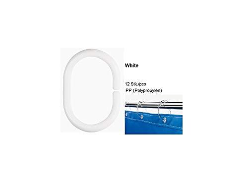OBI Deco-line Dekoline Duschvorhangringe 12 Stück Weiss Duschzubehör Ringe