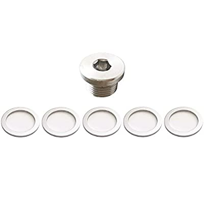 PA () OEM Crush Aluminum Oil Drain Plug Gasket Washers For Porsche