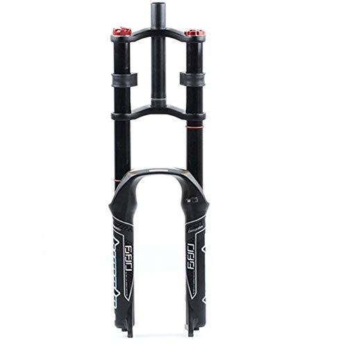 LLGHT Horquillas De Suspensión para Bicicletas DH 26 27.5 29 para Bicicleta De Montaña, Aire, Doble Hombro, Descenso, Rappel, Amortiguador Freno De Disco QR MTB Am FR