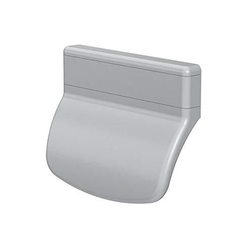 CC-Shopping - Maniglia per porta del balcone, modello arrotondato, per esterni, con 2 viti di montaggio, 70 x 55 x 20 mm, argento, 70x55x20 mm