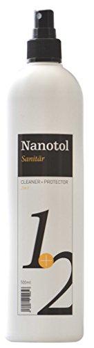 Nanotol Sanitär 1+2, Hybrid Profi Badreiniger mit Lotuseffekt, reinigt, entkalkt und versiegelt gleichzeitig NS21-5 (500 ml)