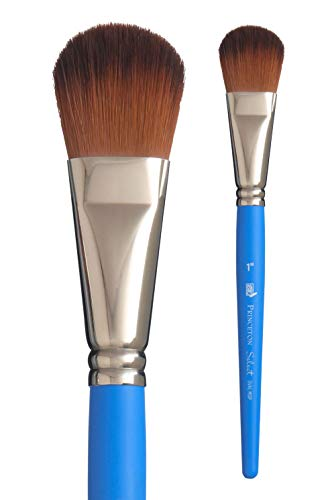 Princeton Select Artiste, Series 3750, Paint Brush for Acrylic, Watercolor and Oil, Oval Mop, 1 Inch