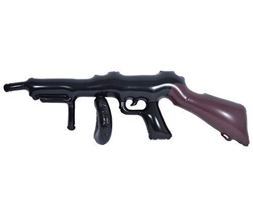 Alsino Maschinengewehr Gewehr Maschinenpistole aufblasbar Karneval Haus des Geldes Kostüm Accessoire Bankräuber Mafia Verkleidung Cosplay