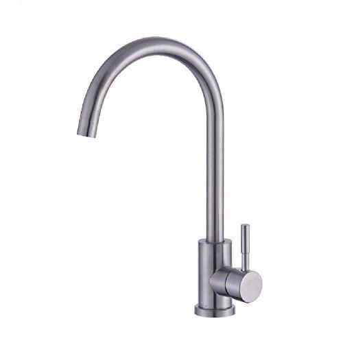 Buy Modern Kitchen Faucet Solid Brass Sprayer Kitchen Mixer Taps 304 stainless steel kitchen faucet ...