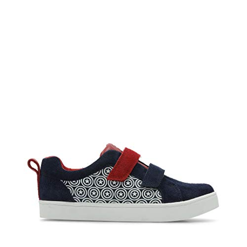 Clarks City Hero LoO Blue Suede - Blue Suede - 4 UK Child