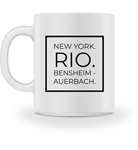 Bensheim - Auerbach - Tasse -M-Weiß