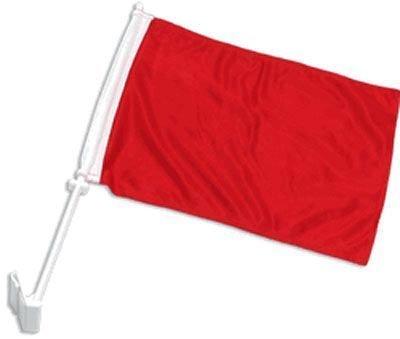 AZ FLAG Drapeau de Voiture Unicolore Rouge 45x30cm - Carflag de Couleur Rouge 30 x 45 cm