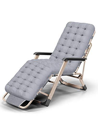 NBVCX Componente de Muebles Silla de Oficina reclinable Tumbona Tumbona Tumbona Silla portátil Plegable para Acampar al Aire Libre Salón de Playa Silla reclinable reclinable con reposabrazos