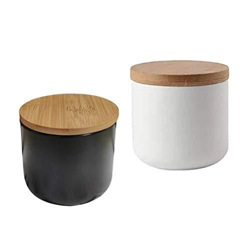 Toygogo 2x 200ml Pots à épices en Céramique Réutilisables Multifonction pour Cosmétiques ou Cuisine