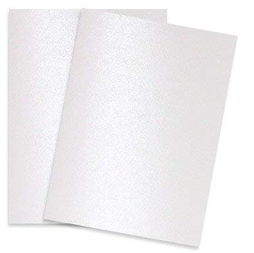 Shimmer Pure White Pearl 92C 8-1/2-x-11 Cardstock Paper 25-pk - PaperPapers 2pBasics 249 GSM (92lb Cover) Letter Size Card Stock Paper - Business, Card Making, Designers, Professional and DIY