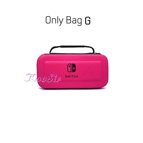 WXX QQBH Nintendoswitch Sac de Stockage Portable à la Main Nintendos Nin Console Switch EVA Carry Case Cover for Nintendo_Switch Accessoires (Color : Only Bag G)