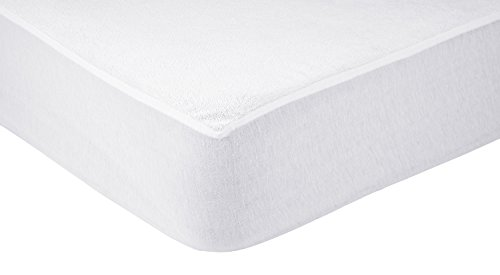 AmazonBasics - Protezione impermeabile per materasso, in spugna Asciugamani 75 x 190 cm bianco