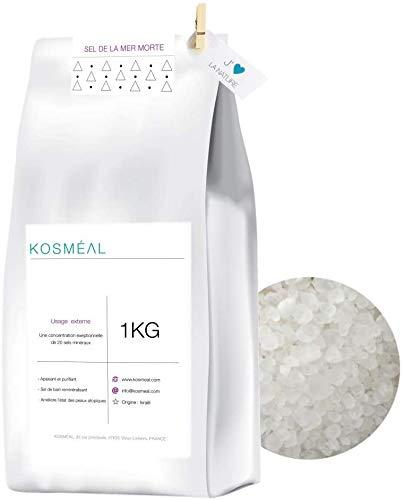 Sel de la Mer Morte 1KG - Minéraux Naturels - d'Israël - Emballage Écologique Papier Kraft Blanc