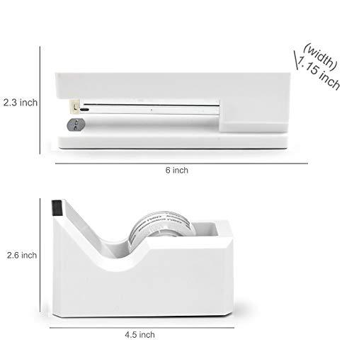 Stapler with 1000 Staples-Plier Stapler Save 60% Power,Good for Stapling at Home School or Warehouse (White Stapler Suit) Photo #2