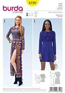 Burda Young Dress 6720 Sizes 6-16