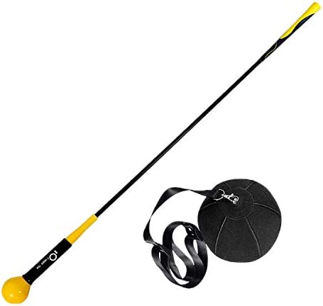 Golf Swing Trainer Warm Up Stick With Training Aid Ball Trainers For Improving Strength Tempo product image