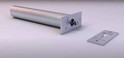 Sris Ma Fils Premium Chain Type Door Closer | 304 Grade Stainless Steel | for Door Weight Upto 45Kg (Silver)
