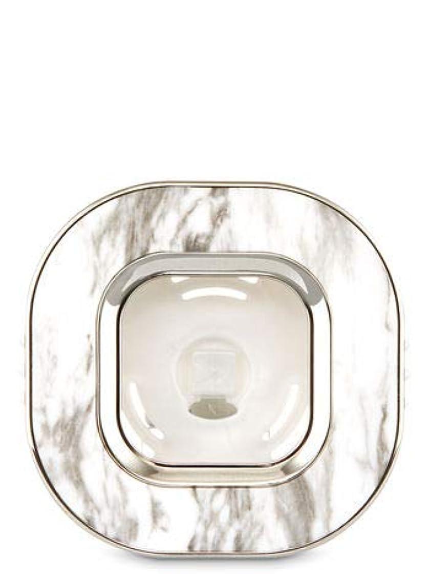 リブセンチメートル不均一【Bath&Body Works/バス&ボディワークス】 車用芳香剤 セントポータブル ホルダー (本体ケースのみ) マーブルスクエアー Scentportable Holder Marble Square Vent Clip [並行輸入品]
