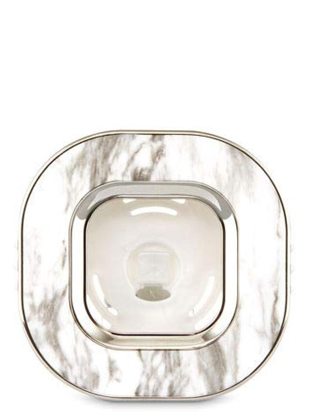 メーカー辛な師匠【Bath&Body Works/バス&ボディワークス】 車用芳香剤 セントポータブル ホルダー (本体ケースのみ) マーブルスクエアー Scentportable Holder Marble Square Vent Clip [並行輸入品]