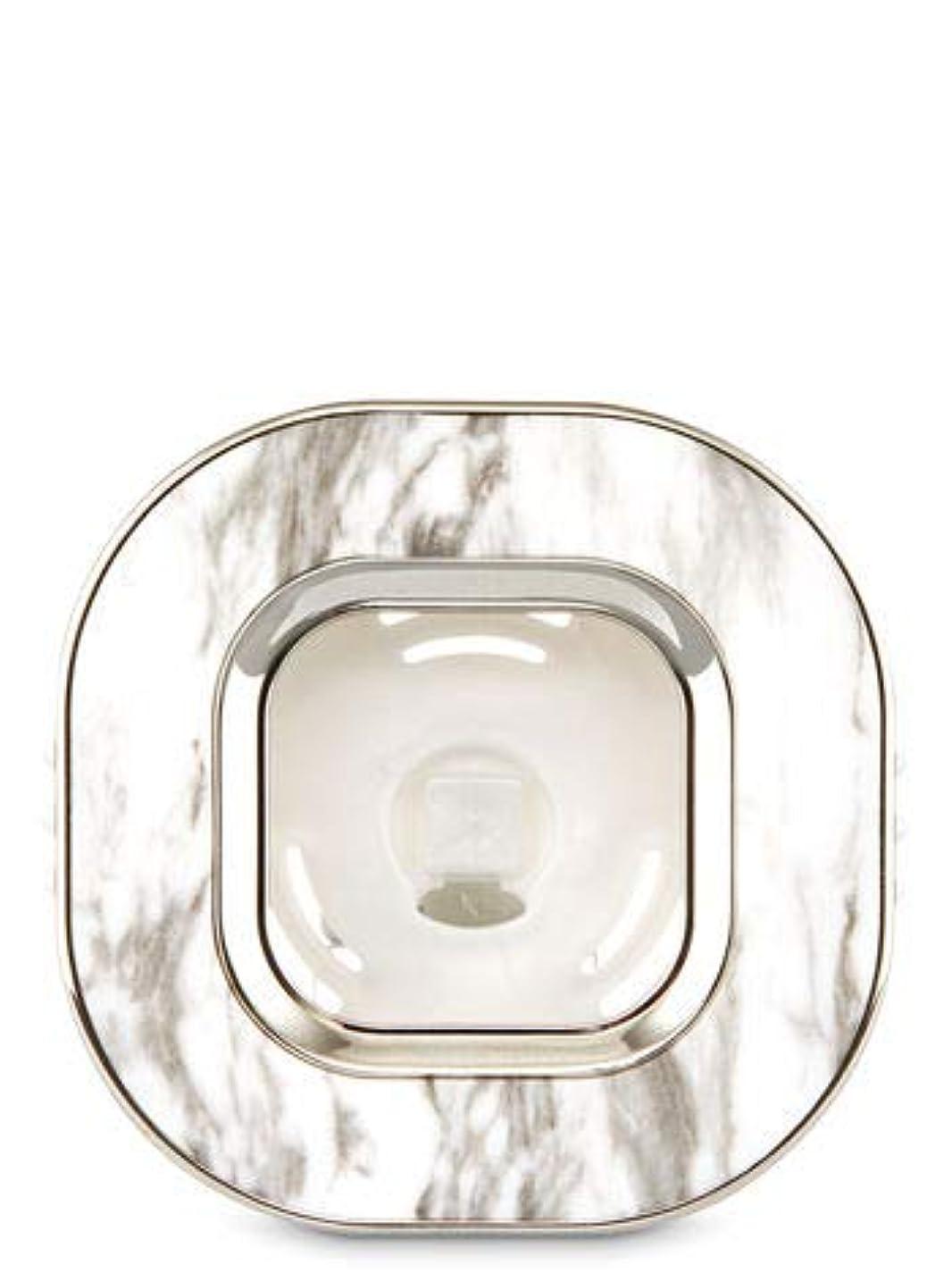 あいさつ金銭的な導出【Bath&Body Works/バス&ボディワークス】 車用芳香剤 セントポータブル ホルダー (本体ケースのみ) マーブルスクエアー Scentportable Holder Marble Square Vent Clip [並行輸入品]
