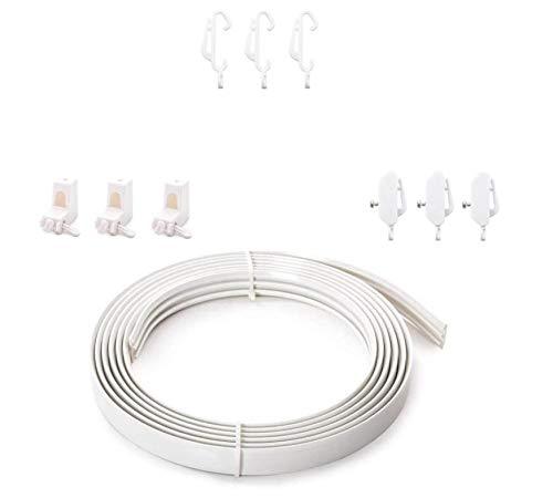 Home Treats Spiralvorhangschiene, 350 cm und 500 cm, biegbar, für gerade und Erkerfenster, plastik, weiß, 500cm