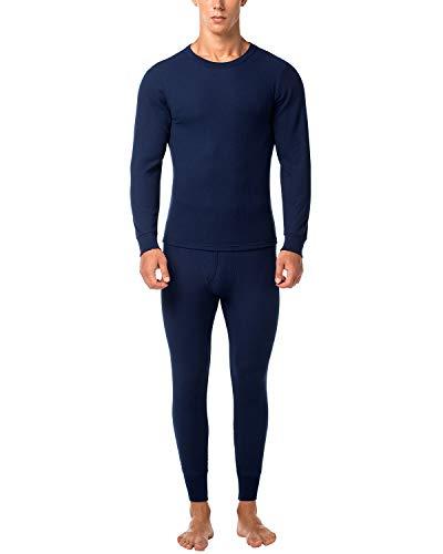 LAPASA Herren Thermounterwäsche - Thermo Oberteile und Unterteile Funktionsunterwäsche Skiunterwäsche für Ski Snowboard Wandern Reisen M60 (L, Navy Blau) MEHRWEG
