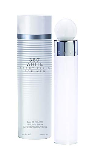 Perry Ellis 360 White By Perry Ellis for Men 3.4 Oz Eau De Toilette Spray, 3.4 Oz