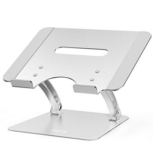 Besign LSX1 Soporte para portátil de aluminio, ergonómico ajustable, soporte para computadora portátil, soporte elevador compatible...