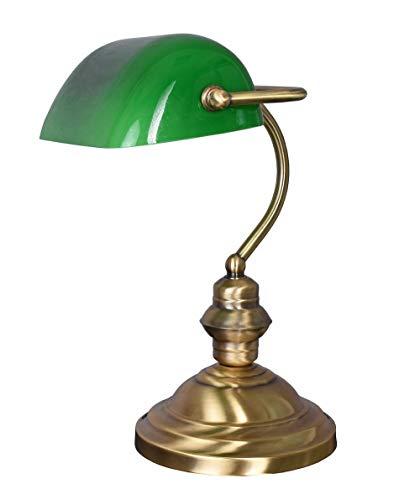 Lampe Banker Lampe englische Tischlampe Bürolampe Tischleuchte Leseleuchte grün xcl112 Palazzo Exklusiv