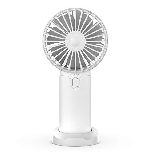 Queta Ventilador de Mano, Mini Ventilador USB,Multifuncional Mini Ventilador portátil,Ajustable 3 Velocidad para Viajar, Deporte al Aire Libre ,Camping ,Oficina,Picnic (blanco)