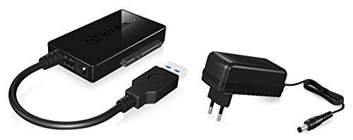 Icy Box IB-AC704-6G USB 3.0 zu SATA-Adapter für 2,5/3,5/5,25 Zoll (6,35-13,3 cm) HDD/SSD & DVD/Blue-ray-Laufwerke, UASP, SATA III (schwarz)