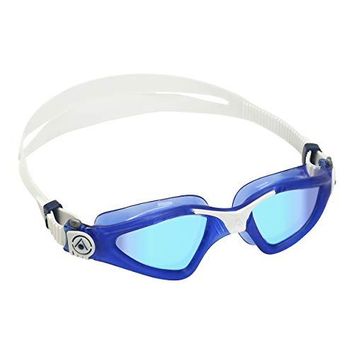 Aqua Sphere KAYENNE Goggle, lente de espejo de titanio azul, azul oscuro + blanco
