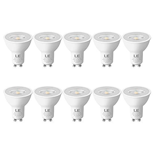 LE GU10 LED Lampe, 4W 350 Lumen LED Leuchtmittel, 2700 Kelvin Warmweiß Energiesparlampe ersetzt 50W Halogenlampen, 36 Grad Abstrahlwinkel Glühbirnen, 10 Stück