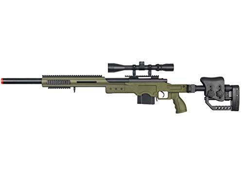 Well Full Metal MB4410 Airsoft Spring Sniper Rifle W/Scope - OD Green