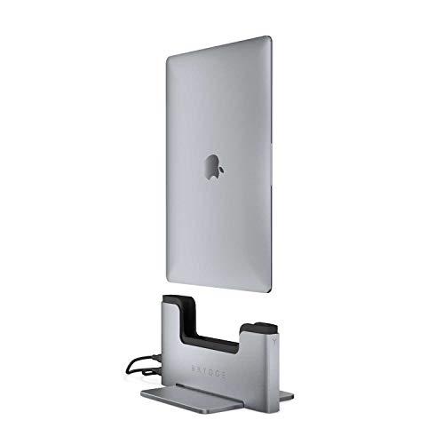 """BRYDGE Station d'accueil Verticale pour MacBook Air Retina 13"""" (2020, 2019 et 2018) avec 2 Thunderbolt 3 de 40 GB/s, Gris Espace"""