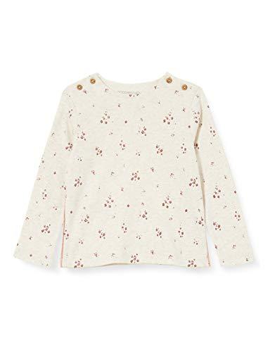 Noppies Baby-Mädchen G Regular LS Mankato AOP T-Shirt, RAS1202 Oatmeal-P611, 74