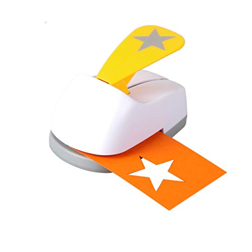 Craft Lever Punch 2 inch DIY Handmade Paper Punch for Festival and Greeting Card Making Ten Shapes Choices(Star 1)