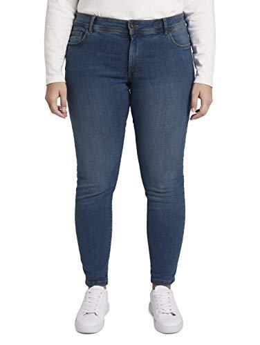 TOM TAILOR MY TRUE ME Damen Basic Skinny Hose, 10110-Blue Denim, 46