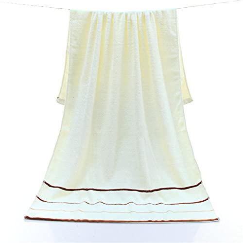 Cerca de 70x140cm Blanco Khaki Green Pink Simple Color Line Simple Calidad Toalla de baño Suave-C4