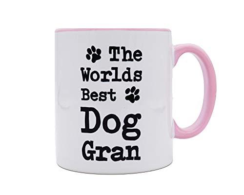 Worlds Best Dog Gran Mug Pink - Fantastic Gift for G