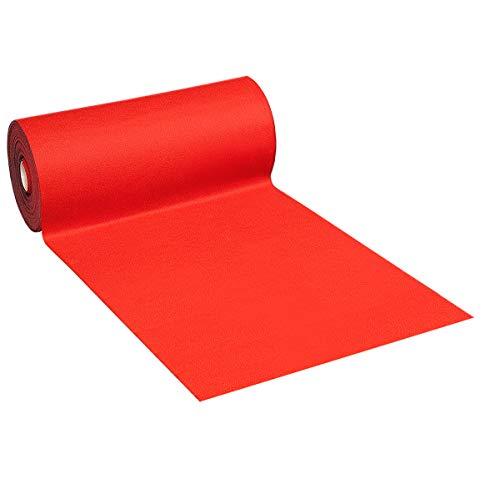 Alfombra moqueta alfombra roja retro antideslizante, se vende por metros lineales, ancho 200cm, Mod. Agugliato Rosso H 200cm