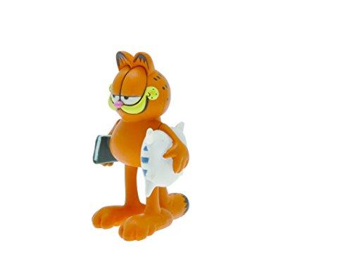 Plastoy 66002–Kleine–Figurine-Garfield und Seine Kopfkissen