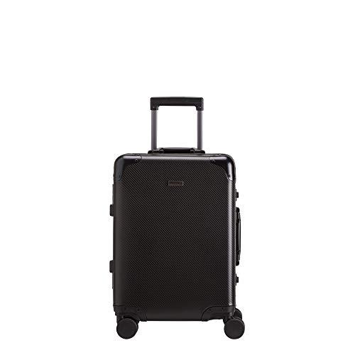 Carpisa - Carrito de aluminio con 4 ruedas giratorias, Negro  (Negro) - VA68790SC0000101