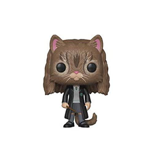 QIYV Funko Pop Movie Kawaii Q Version Nendoroid Figura De Anime Hermione Deformed Cat 77 # Figuras De Acción De Vinilo Pop En Caja De Juguete De 10 Cm, Regalos De Cumpleaños para Niños