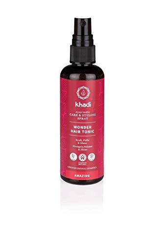 khadi Wonder Hair Tonic 100ml I Haartonikum zur Förderung von Haarwachstum I Haarwasser für Volumen und gesunde Kopfhaut I Naturkosmetik 100% natürlich und vegan