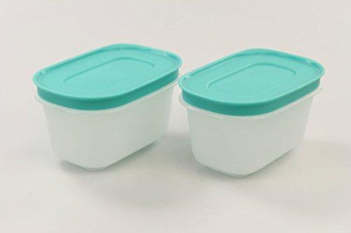 TUPPERWARE 33203 - Juego de 2 recipientes de cristal para congelación (170...