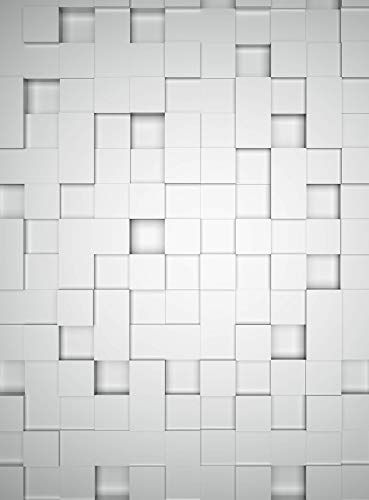 Fototapete Cubes Vliestapete 3D in weiß grau 192 x 260 cm XXL Wandtapete Wandbild 119107