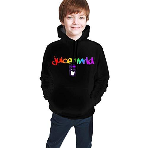 Sudaderas con Capucha Sudaderas Suéter de Manga Larga Suéter Unisex Juice WRLD Logo Youth, Boys Girls Pullover con Bolsillo