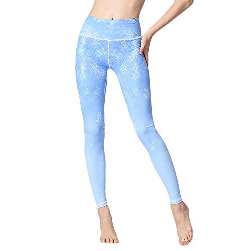 Deportivos Mallas para Running Training,Leggings Control de Barriga sin Costuras, Pantalones de Yoga Estiramiento de Cadera de Cintura Alta-BU_XL